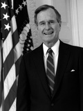 Digitally Restored Photo of President George H.W. Bush Photographic Print