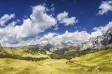 Panoramic Shot of a Field in the Dolomite Alps, Northern Italy Photographic Print