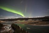 Aurora Borealis over Yukon River, Yukon, Canda Photographic Print