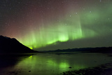 Aurora Borealis over Kluane Lake, Yukon, Canada Photographic Print