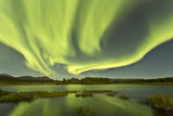 Aurora Borealis over Fish Lake, Yukon, Canada Photographic Print