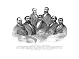 American History Print of the First African American Senator and Representatives Posters