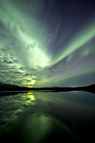 Aurora Borealis over Schwatka Lake, Yukon, Canada Photographic Print
