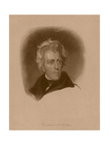 Digitally Restored American History Portrait of President Andrew Jackson Poster