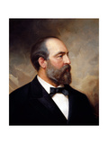 Vintage American History Painting of President James Garfield Posters