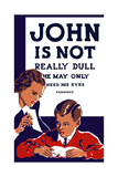 Vintage Wpa Propaganda Poster Featuring a Teacher and Young Boy Reading Posters