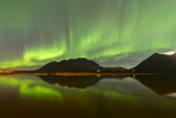 Aurora Borealis over Mountain, Carcross, Yukon, Canada Photographic Print