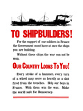 World War II Propaganda Poster Featuring a Ship Steaming Along Print