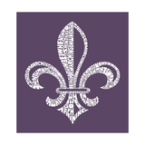 Louisiana Fleur De Lis (Cities) Poster