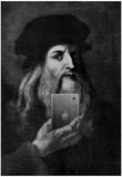 Leonardo Da Vinci Selfie Portrait Affiches