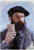 Claude Monet Selfie Portrait Affiches