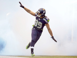 NFL Playoffs 2014: Jan 11, 2014 - Saints vs Seahawks - Doug Baldwin Photographic Print by Elaine Thompson