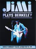 Jimi Hendrix: Plays Berkeley Lærredstryk på blindramme