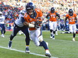 NFL Playoffs 2014: Jan 12, 2014 - Broncos vs Chargers - Wes Welker Photographic Print by Jack Dempsey