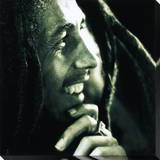 Bob Marley: Hand On Chin Stretched Canvas Print