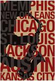 Blues Cities Music Plakat