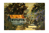 Red Roof Coffee Shack Giclee Print by Darrell Hill