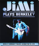 Jimi Hendrix: Plays Berkeley Stretched Canvas Print