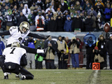 NFL Playoffs 2014: Jan 4, 2014 - Eagles vs Saints - Shayne Graham Plakater av Matt Rourke