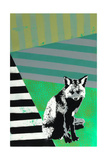 Black Fox Giclee Print by  Urban Soule
