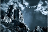 Moods of Corfe Castle! Photographic Print by Adrian Campfield