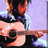 Bob Marley: Guitar Stretched Canvas Print
