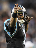 Cam Newton Photographic Print by Mike McCarn