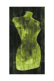 Dress Form - Green Giclee Print by  Paperplate Inc.