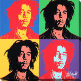 Bob Marley: Pop Art Design Stretched Canvas Print