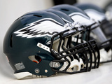 Philadelphia Eagles Helmets Photographic Print by Michael Perez