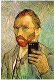 Vincent Van Gogh Selfie Portrait - Poster