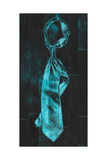 Single Man's Tie 4 - Blue Giclee Print by  Paperplate Inc.