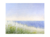 Yellow Beach Grass-Blue Water Posters by Judy Friday