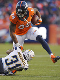NFL Playoffs 2014: Jan 12, 2014 - Broncos vs Chargers - Demaryius Thomas Photographic Print by Jack Dempsey