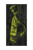Single Man's Tie 1 - Green Giclee Print by  Paperplate Inc.
