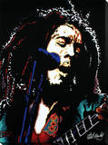 Bob Marley: Electric Reproducción en lienzo de la lámina