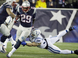 NFL Playoffs 2014: Jan 11, 2014 - Colts vs Patriots - LeGarrette Blount Posters av Matt Slocum