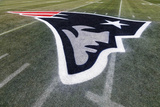 Patriots Logo at Gillette Stadium Photographic Print by Michael Dwyer