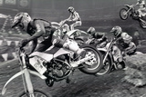Dirt Bike Motorcyle Racing Archival Photo Poster Photo