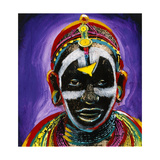 African Faces II Giclee Print by Ronald Miller
