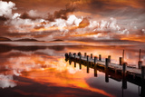 Sunset Pier Photographic Print by Marco Carmassi
