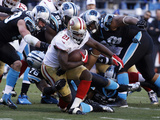 NFL Playoffs 2014: Jan 12, 2014 - 49ers vs Panthers - Frank Gore Photographic Print by John Bazemore