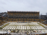 Heinz Field in the Snow Photographic Print by Don Wright