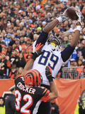 NFL Playoffs 2014: Jan 5, 2014 - Bengals vs Chargers - Ladarius Green Fotografisk trykk av Tom Uhlman