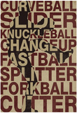Baseball Pitches Plakaty