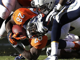NFL Playoffs 2014: Jan 12, 2014 - Broncos vs Chargers - Montee Ball Photographic Print by Joe Mahoney