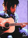 Bob Marley: Guitar Stretched Canvas Print