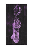 Single Man's Tie 4 - Purple Giclee Print by  Paperplate Inc.