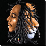 Bob Marley: Lionhead Stretched Canvas Print
