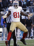 NFL Playoffs 2014: Jan 12, 2014 - 49ers vs Panthers - Anquan Boldin Photographic Print by John Bazemore